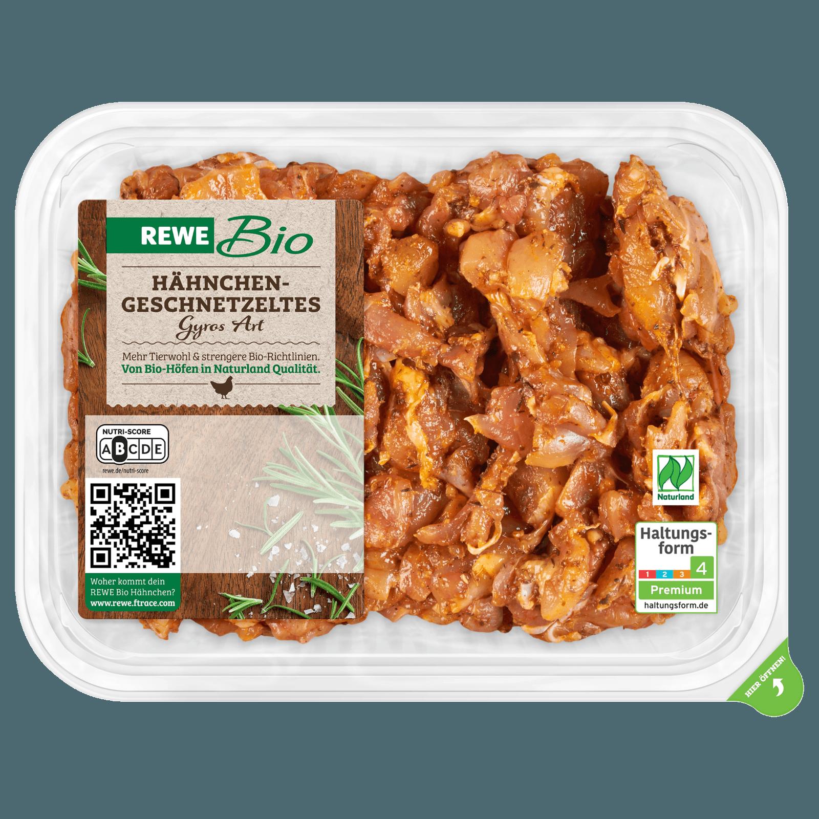 REWE Bio Hähnchengeschnetzeltes gewürzt 300g