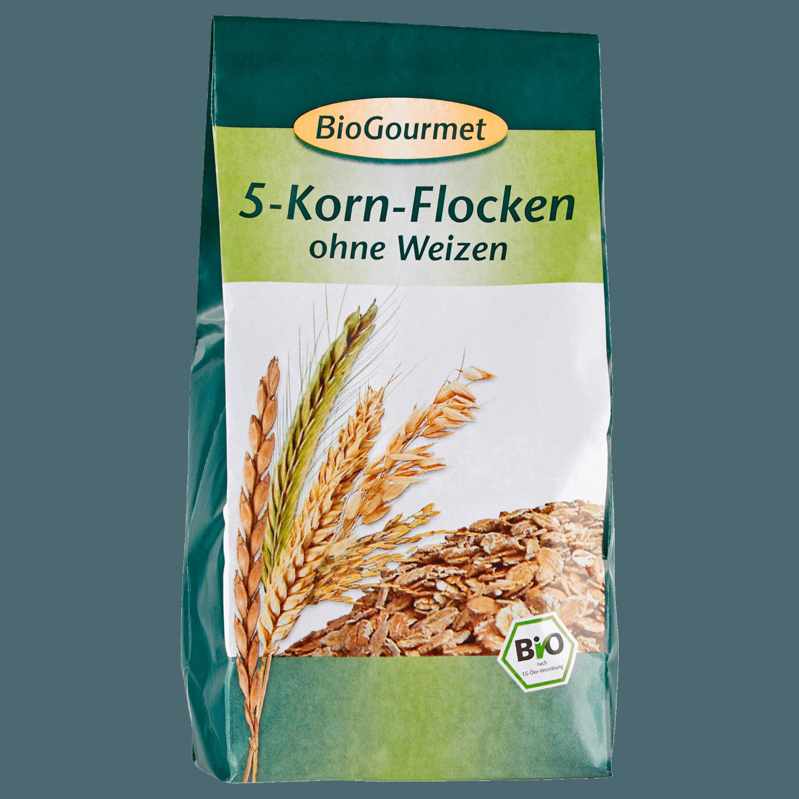 BioGourmet 5-Korn-Flocken ohne Weizen 400g