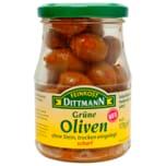 Feinkost Dittmann Grüne Oliven trocken eingelegt & scharf 170g