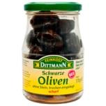 Feinkost Dittmann Oliven schwarz trocken eingelegt & scharf 170g