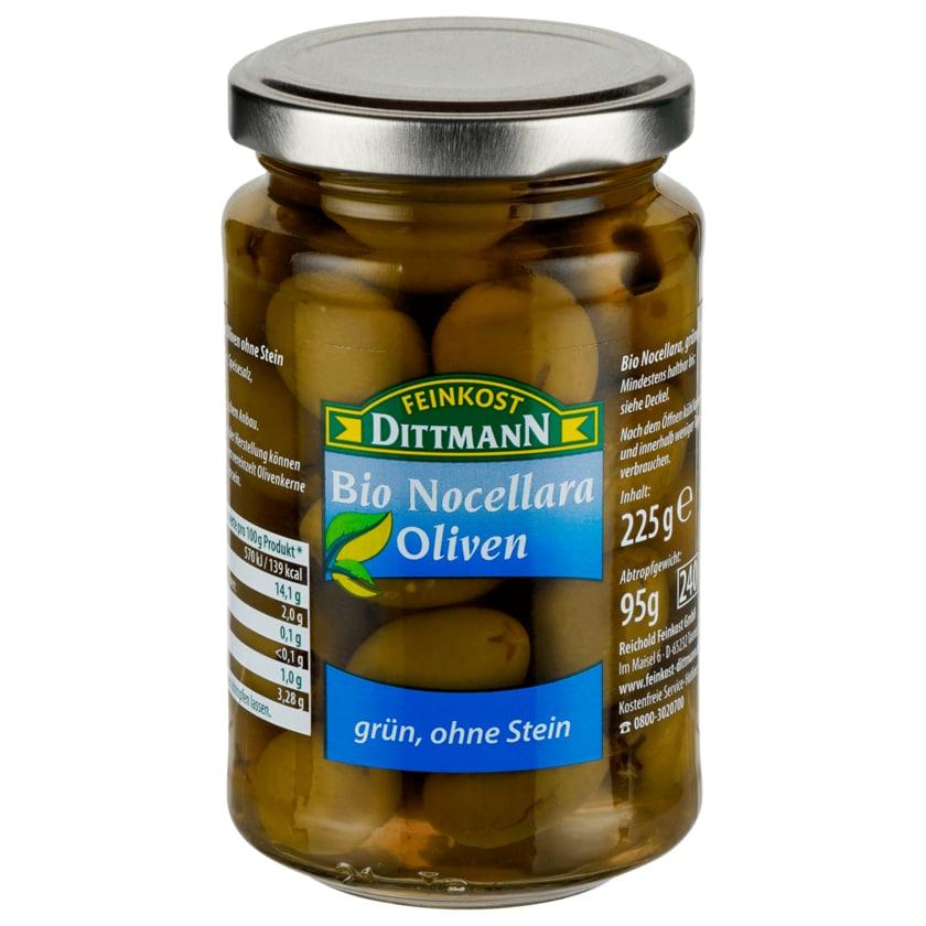 Feinkost Dittmann Bio Nocellara Oliven grün ohne Stein 95g