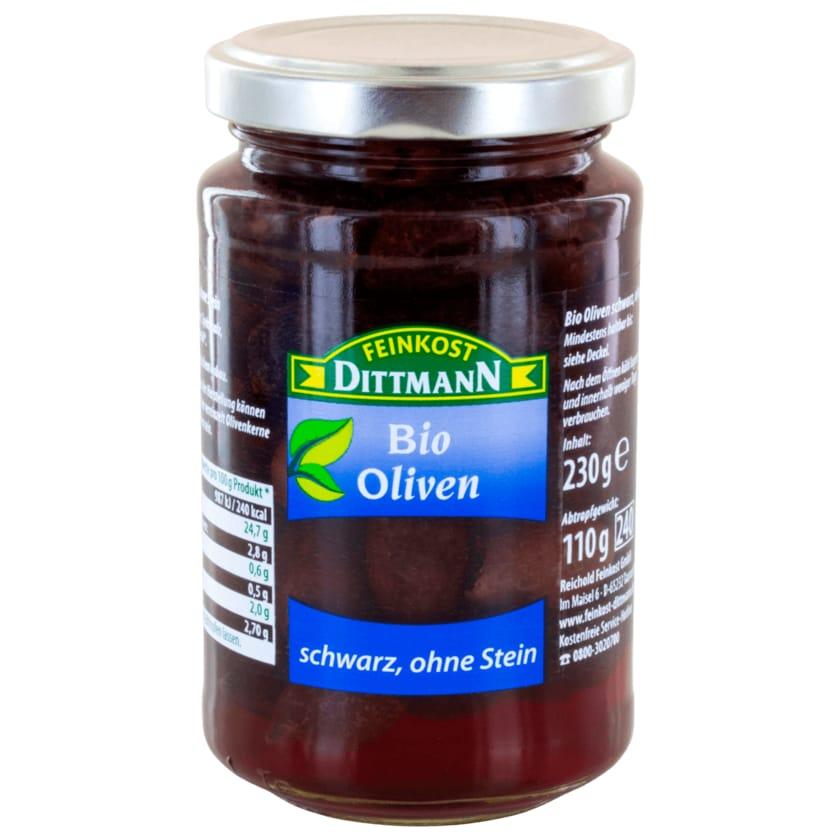 Feinkost Dittmann Bio Oliven schwarz ohne Stein 240ml