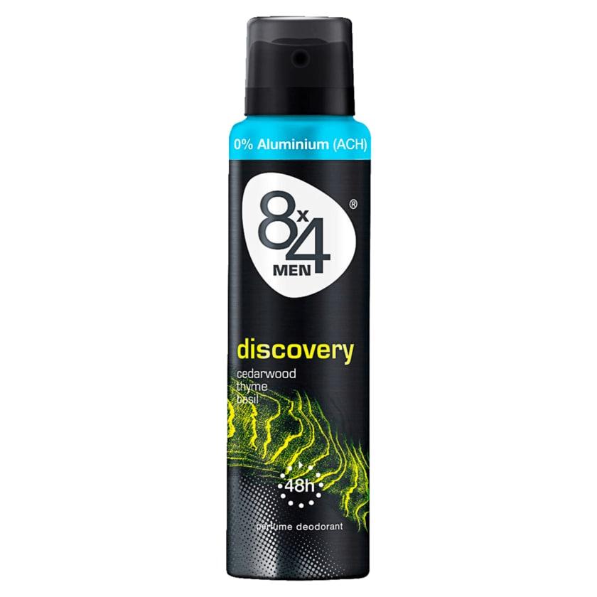 8x4 Men Deospray Discovery ohne Aluminium 150ml