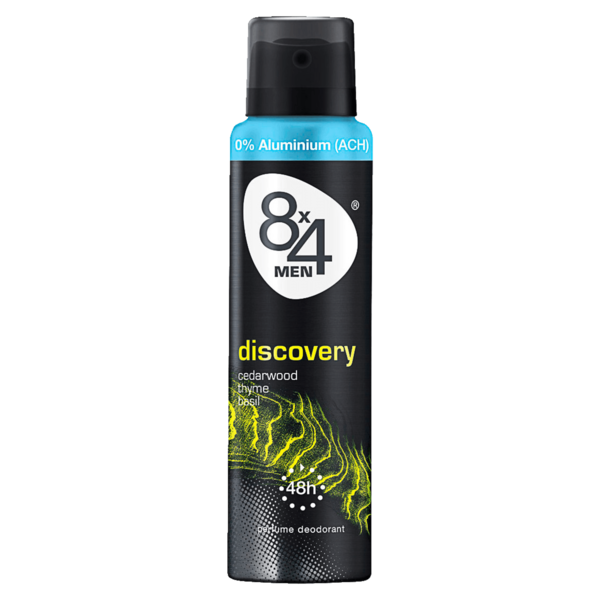 8x4 Men Deospray Discovery ohne Aluminium 150ml