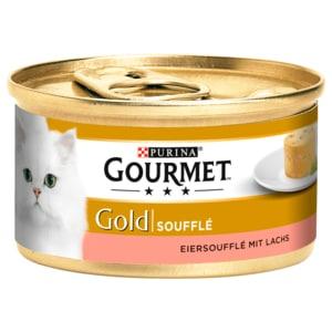 Gourmet Katzenfutter Gold Eiersoufflé mit Lachs 85g