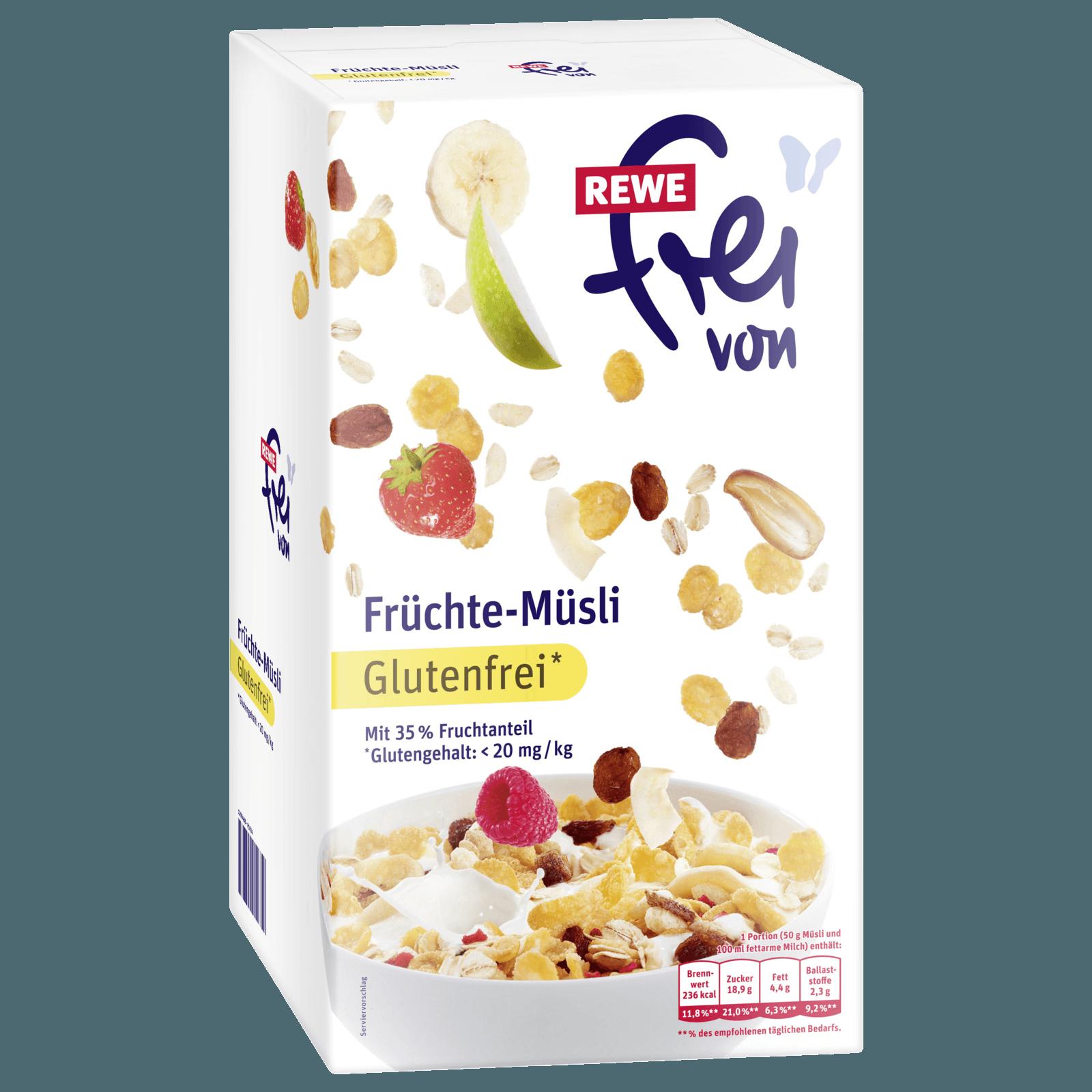 REWE Frei von Früchte-Müsli 400g