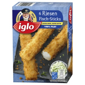 Iglo Riesen-Fisch-Sticks 360g, 6 Stück