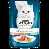 Gourmet Katzenfutter Perle Erlesene Streifen mit Lachs & Seelachs 85g