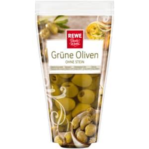 REWE Beste Wahl Grüne Oliven ohne Stein 125g
