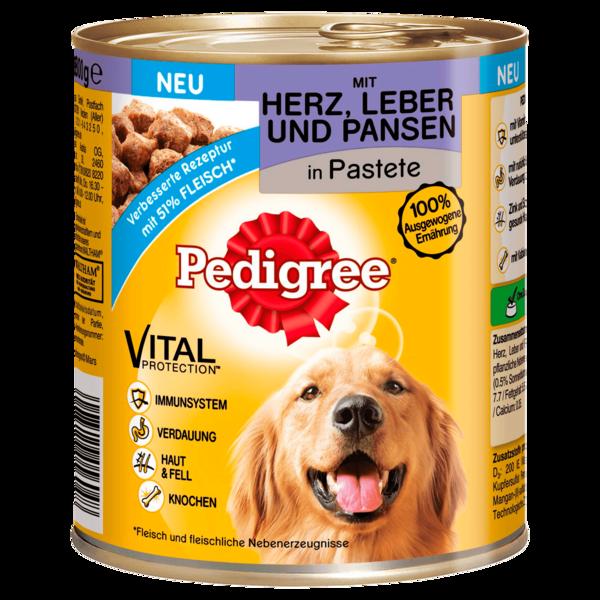 Pedigree Mit Herz, Leber & Pansen in Pastete 800g