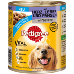 Pedigree Hundefutter Mit Herz, Leber & Pansen in Pastete 800g