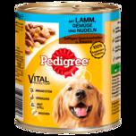 Pedigree Hundefutter Mit Lamm, Gemüse und Nudeln 800g