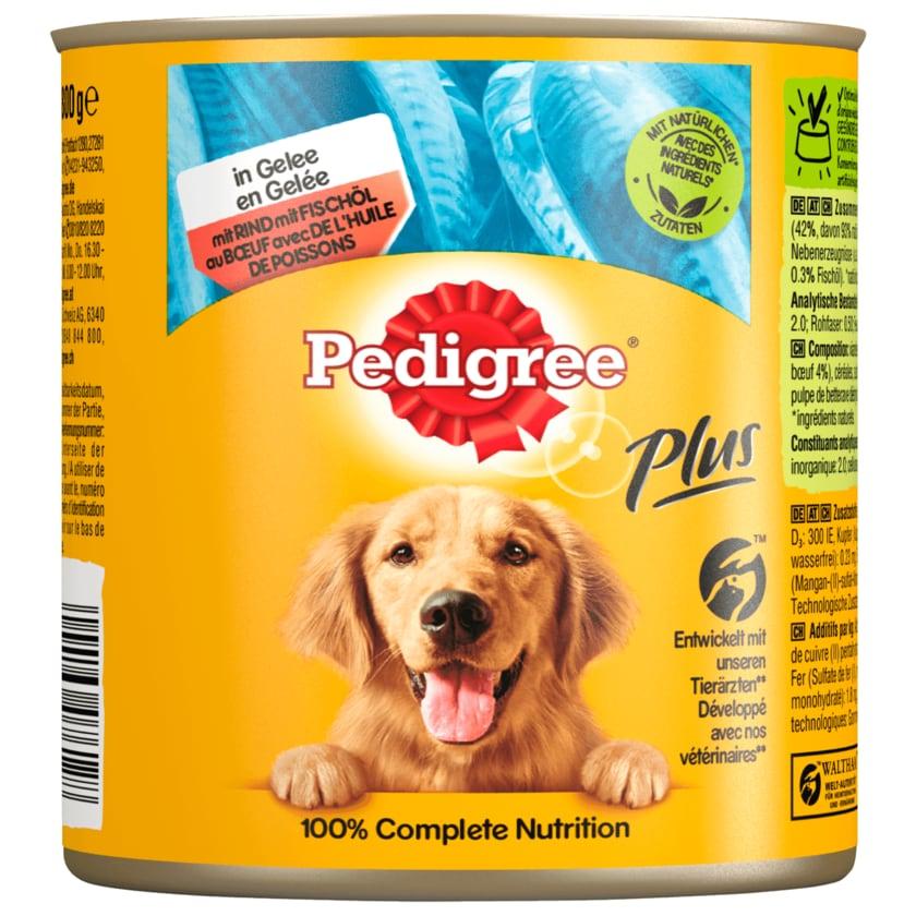 Pedigree Adult Plus mit Fischöl und Rind in Gelee 800g