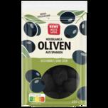 REWE Beste Wahl Schwarze Oliven mit Stein 125g