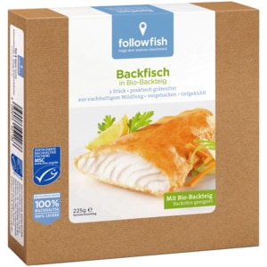 Followfish Backfisch in Bio-Backteig 225g