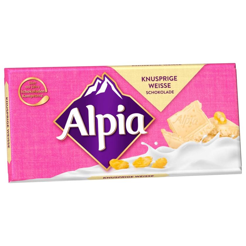 Alpia Knusprige Weiße Schokolade 100g