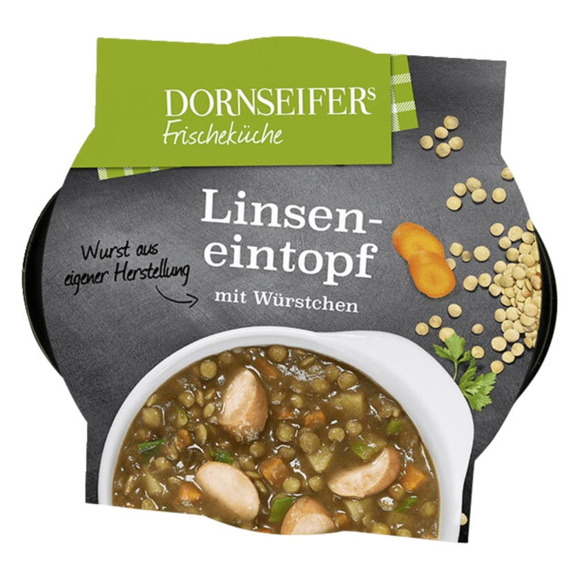 Dornseifer Linsensuppe mit Würstchen 400g