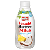 Müller Fruchtbuttermilch Ananas-Kokos 500g
