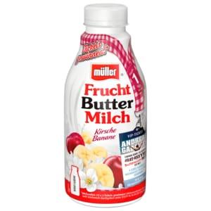 Müller Fruchtbuttermilch Kirsch-Banane 500g