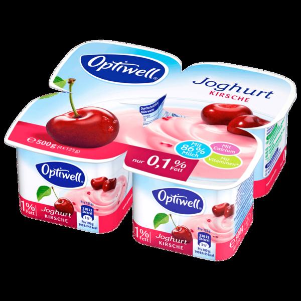 Optiwell Joghurt Kirsch 0,1% 4x125g