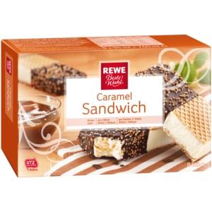 REWE Beste Wahl Caramel-Sandwich 95ml, 8 Stück