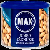 Max Jumbo Erdnüsse geröstet & ungesalzen 300g