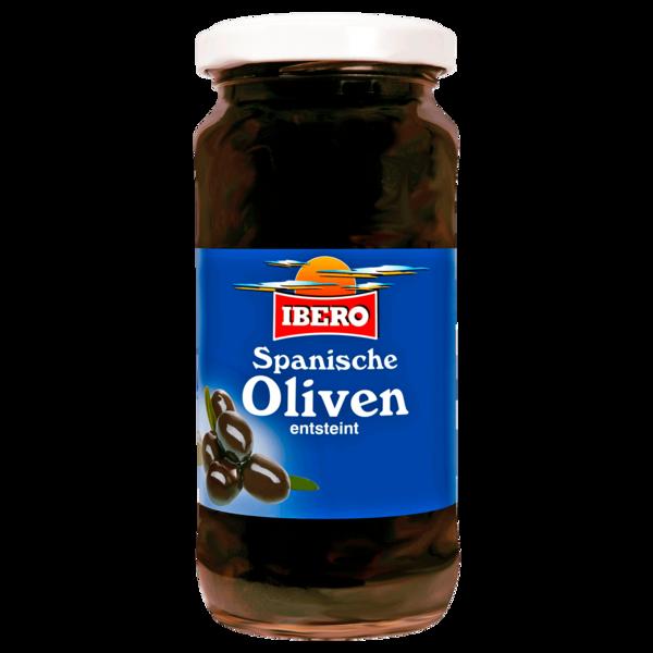 Ibero Schwarze Oliven entsteint 110g