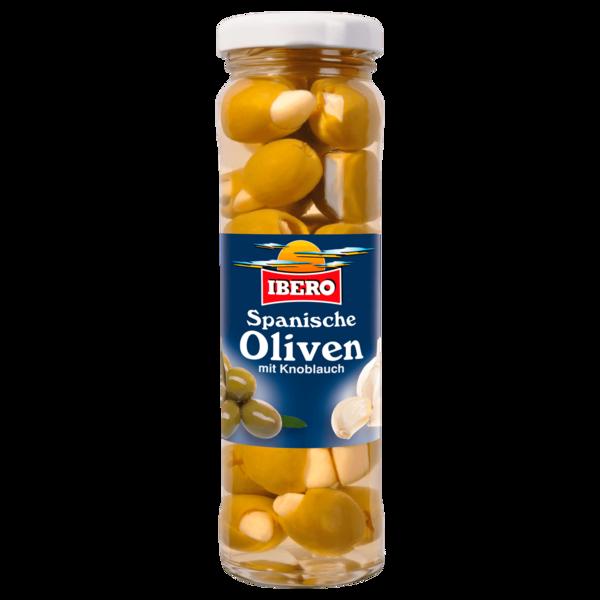 Ibero Grüne Oliven mit Knoblauch 75g