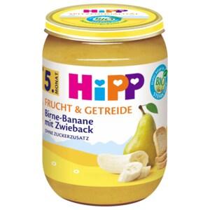 Hipp Frucht & Getreide Birne-Banane mit Zwieback 190g