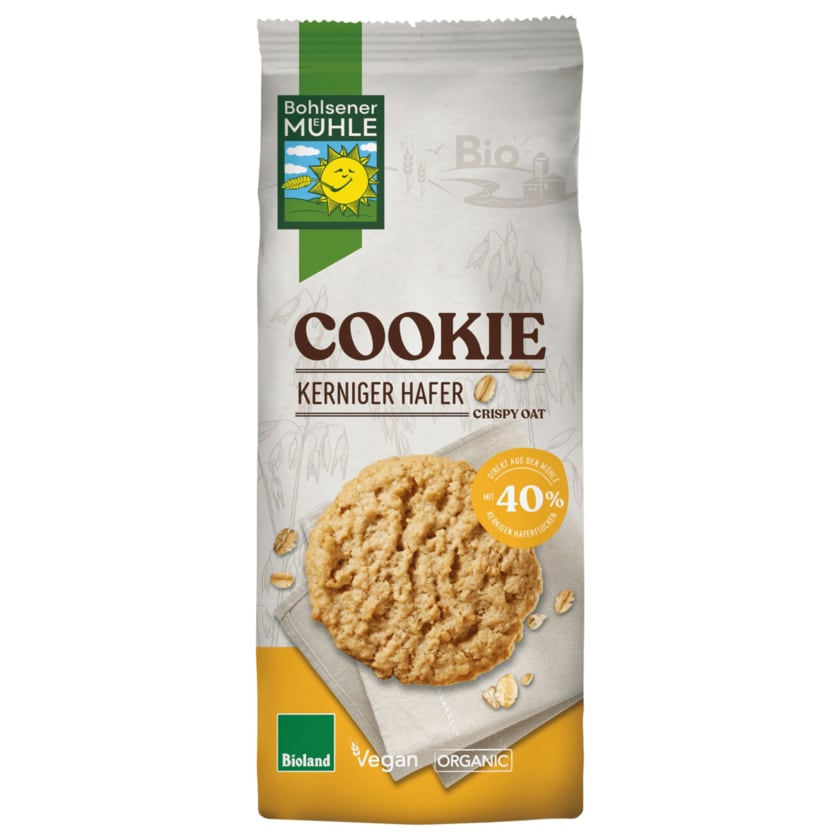 Bohlsener Mühle Bio Cookie Kerniger Hafer Crunchy Oat 175g