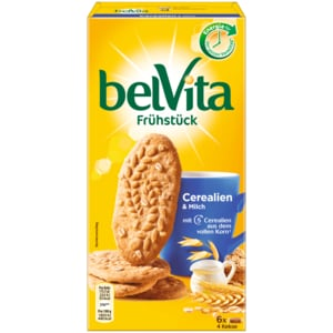 belVita Frühstücks-Kekse Cerealien & Milch 300g