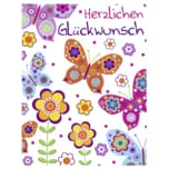 Vivess Mini Glückwunschkarte Geburtstag Schmetterlinge