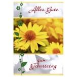 Vivess Glückwunschkarte Geburtstag gelbe Blumen