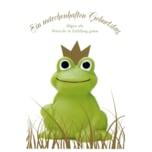 Vivess Glückwunschkarte Geburtstag Märchen Frosch
