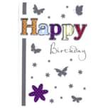 Vivess Geburtstagskarte Schmetterlinge und Blumen