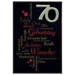 Vivess Glückwunschkarte 70. Geburtstag