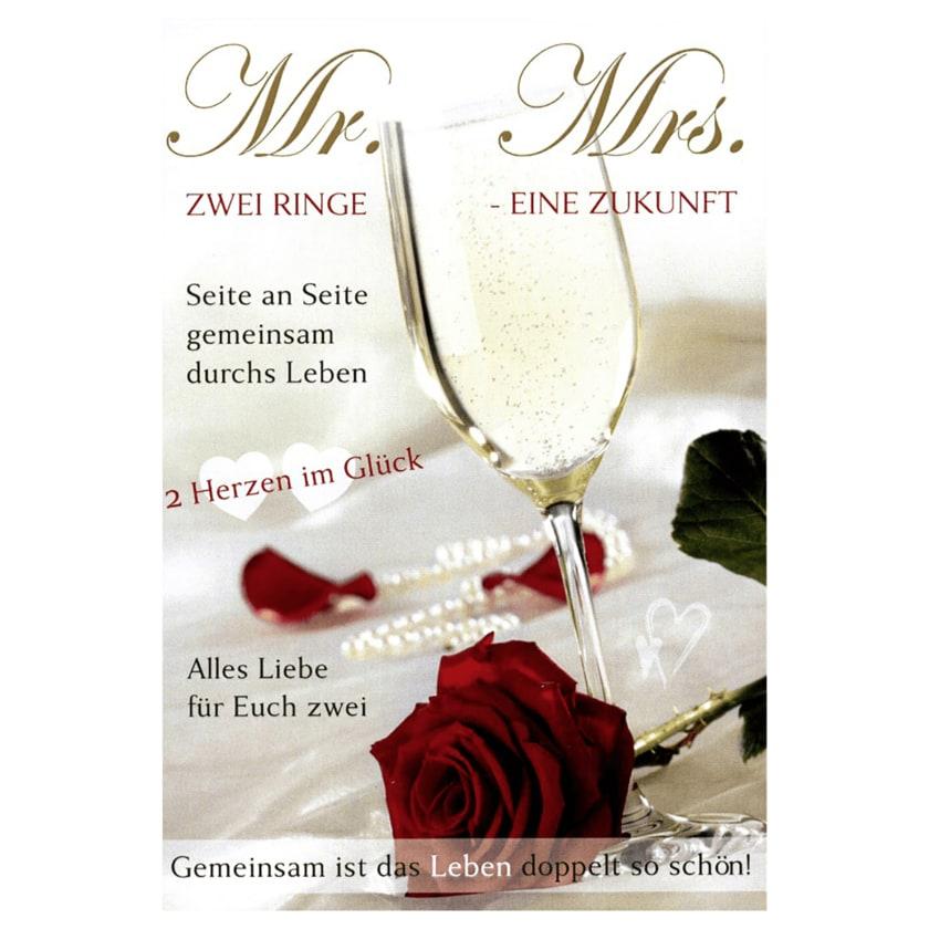Vivess Glückwunschkarte Hochzeit Mr&Mrs