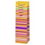 Vivess Geschenktüte für Flaschen mit Streifen 36x10,5x5cm