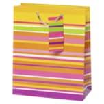 Vivess Geschenktüte mit Streifen 23x19x9cm