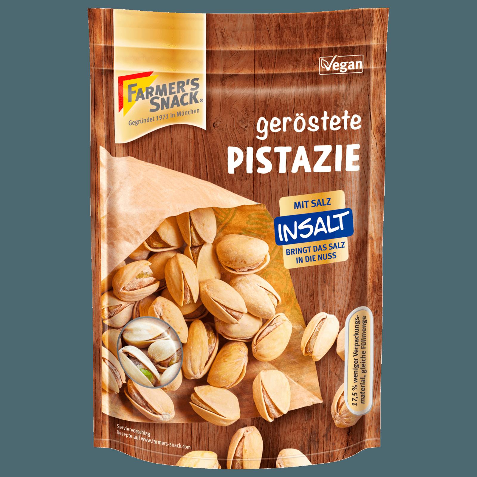 Farmer's Snack Geröstete Pistazien mit Meersalz 150g