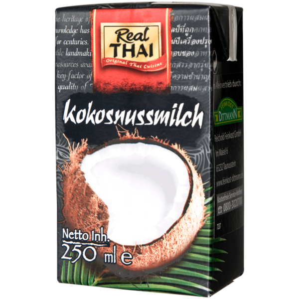 Real Thai Kokosnussmilch 17-19% 250ml