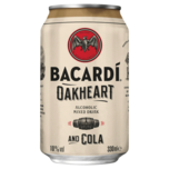 Bacardi Oakheart & Cola 330ml