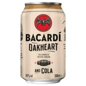Bacardi Oakheart & Cola 330ml