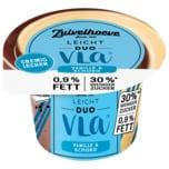 Zuivelhoeve Leichter Genuss Duo-Vla Vanille-Schokolade 200g
