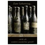 Vivess Glückwunschkarte Geburtstag Weinflaschen