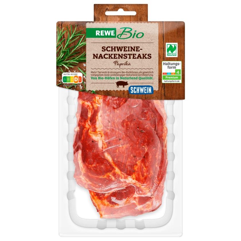 REWE Bio Schweine-Nackensteaks Paprika 2 Stück