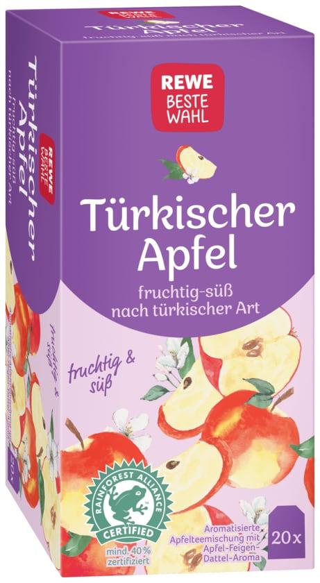 REWE Beste Wahl Früchtetee Türkischer Apfel 55g, 20 Beutel