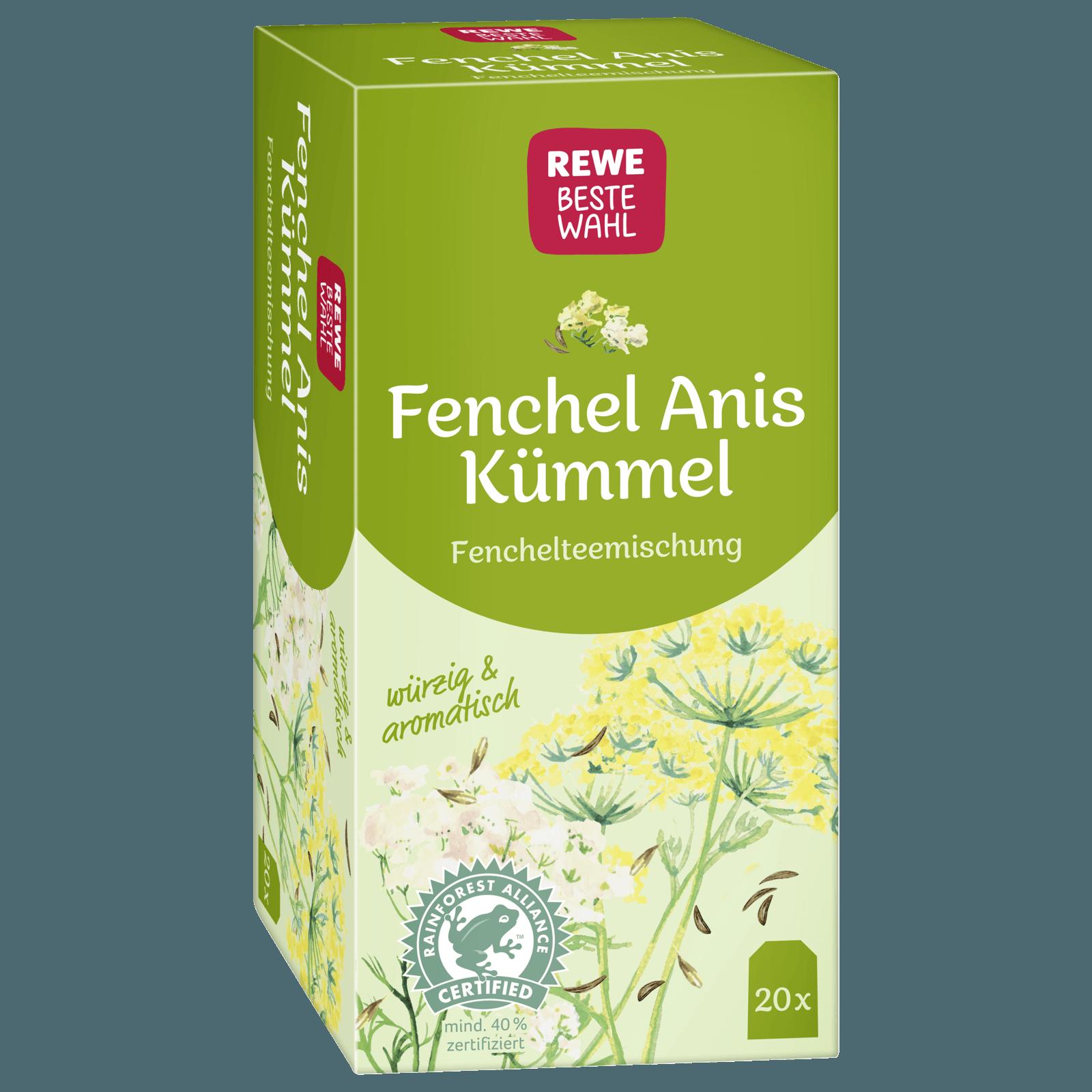 REWE Beste Wahl Kräutertee Fenchel-Anis-Kümmel 40g, 20 Beutel