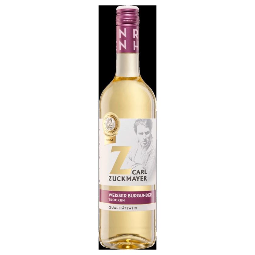 Carl Zuckmayer Weißwein weißer Burgunder QbA trocken 0,75l
