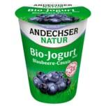 Andechser Natur Bio-Jogurt mild Blaubeere-Cassis 400g